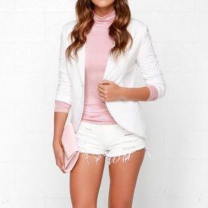 Lulu's Blush Pink Turtleneck Long Sleeve Top